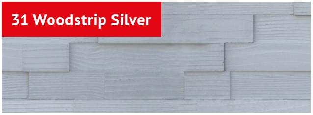 "BisoART Verblendsteine ""Woodstrip Silver"""